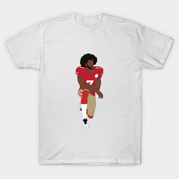 946b3f32 Colin Kaepernick Kneeling - Colin Kaepernick - T-Shirt | TeePublic