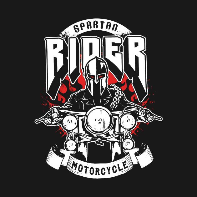 Spartan Rider Motorcycle - Spartan Rider Motorcycle - T-Shirt ...