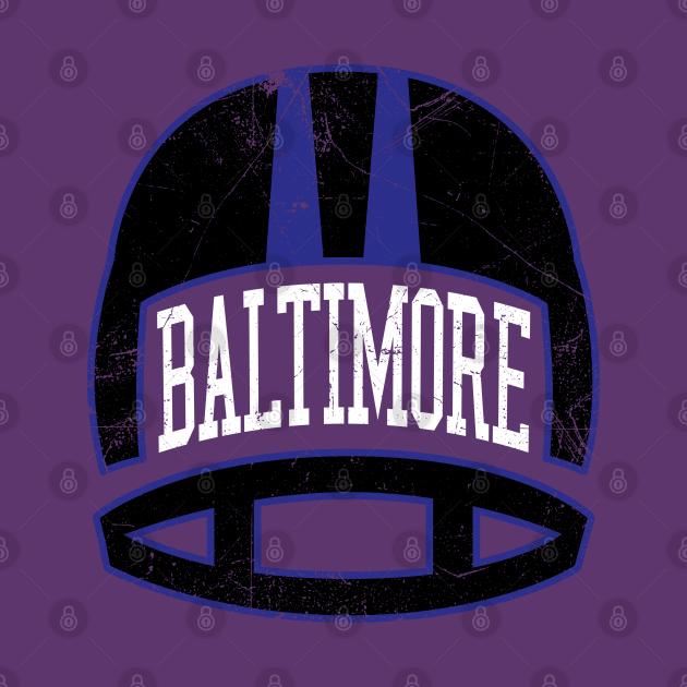 Baltimore Retro Helmet- Purple