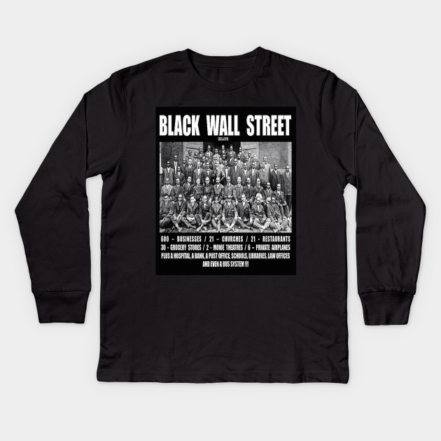 Black Wall Street Clothing black wall street - beacon tulsa ok - kids long sleeve t-shirt