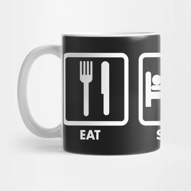 e41065c71c1 Eat Sleep Softball Repeat - Eat Sleep Softball Repeat - Mug | TeePublic