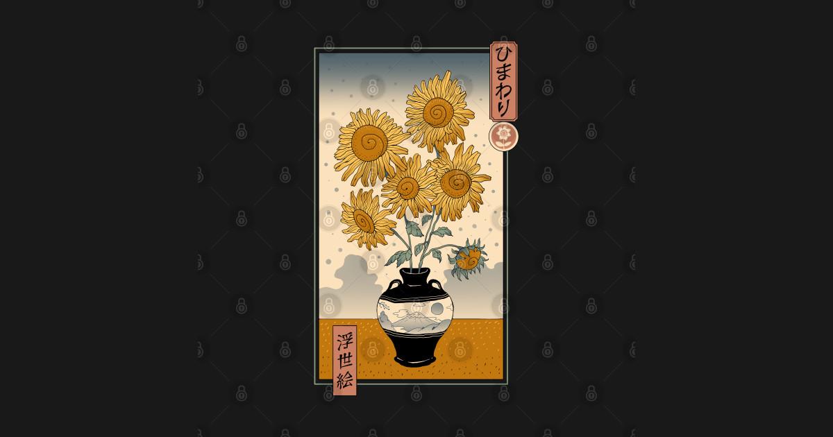 Sunflowers Ukiyo-e - Sunflowers - Posters and Art Prints ...