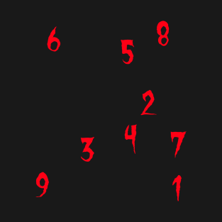 Numbers t-shirts