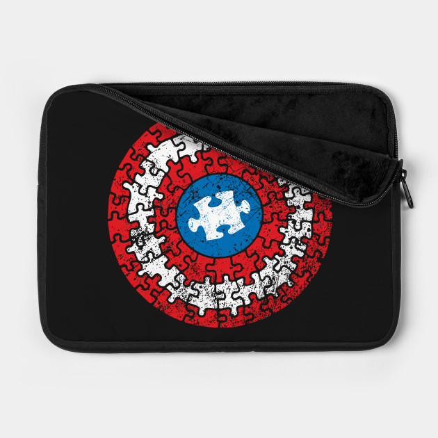 Autistic Superhero Shield Autism Awareness Puzzle Pieces