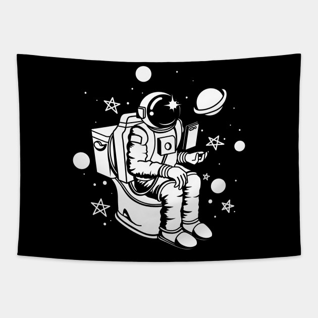 Poopin Astronaut Boldly Go Funny Space Gift