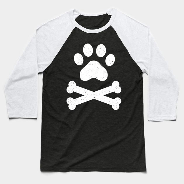 c6dff8e6 Funny Skull Crossbones Shirt Paw Print Dog Lover Dog Dad Dog Mom Baseball T- Shirt