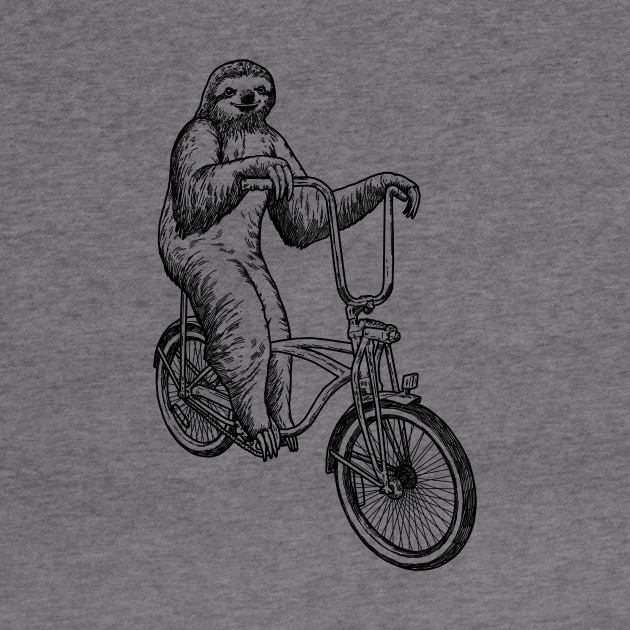 Sloth Riding Bike