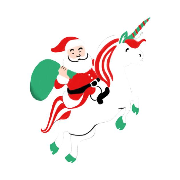 Funny Christmas.Santa On Flying Unicorn Funny Christmas Gift