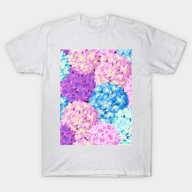 3034f9457e4b Purple   Blue Hydrangeas - Blue Hydrangeas - T-Shirt