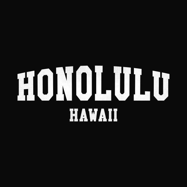 Honolulu, Hawaii - HI Simple Typography