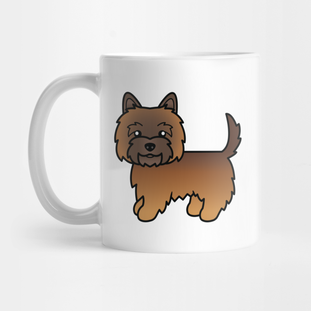 Red Brindle Cairn Terrier Dog Cute Cartoon Illustration