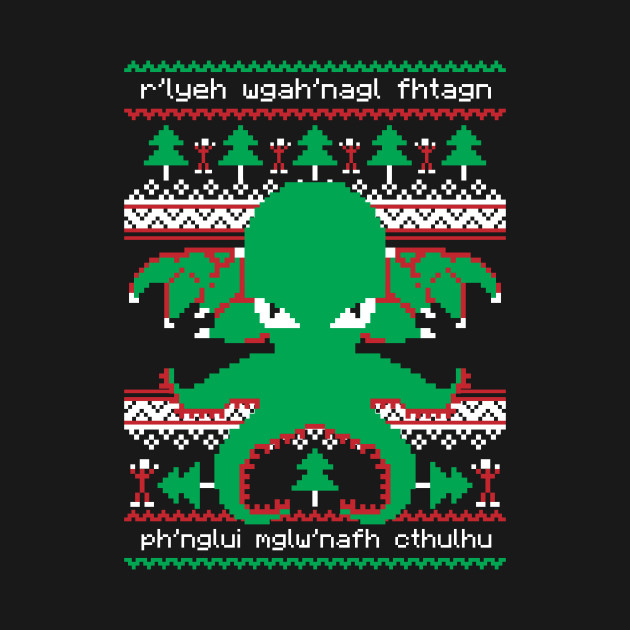 Cthulhu Cultist Christmas - Cthulhu Christmas Sweater - Ugly Sweater