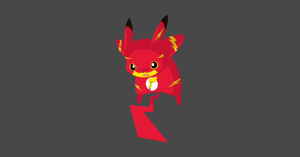 Pika flash pika flash sticker teepublic