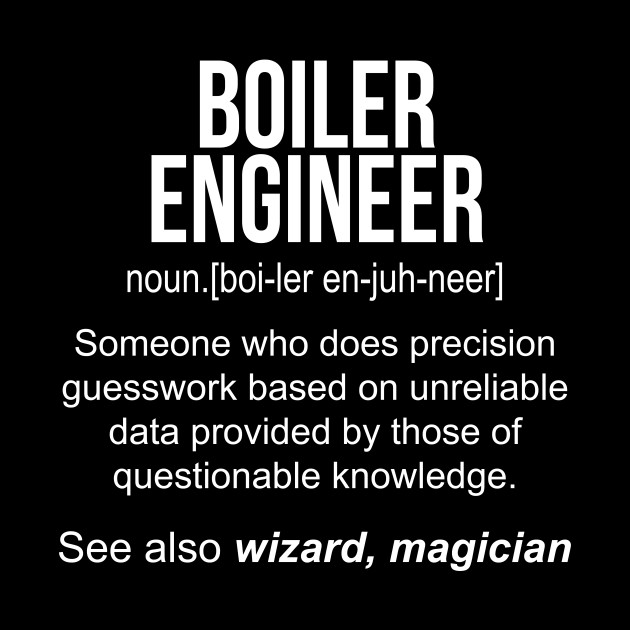 Boiler Engineer noun definition funny shirt T-Shirt - Boiler ...