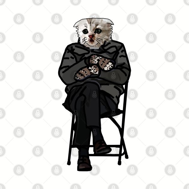 Zoom Cat wearing Bernie Sanders Mittens Memes