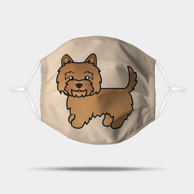 Red Cairn Terrier Dog Cute Cartoon Illustration