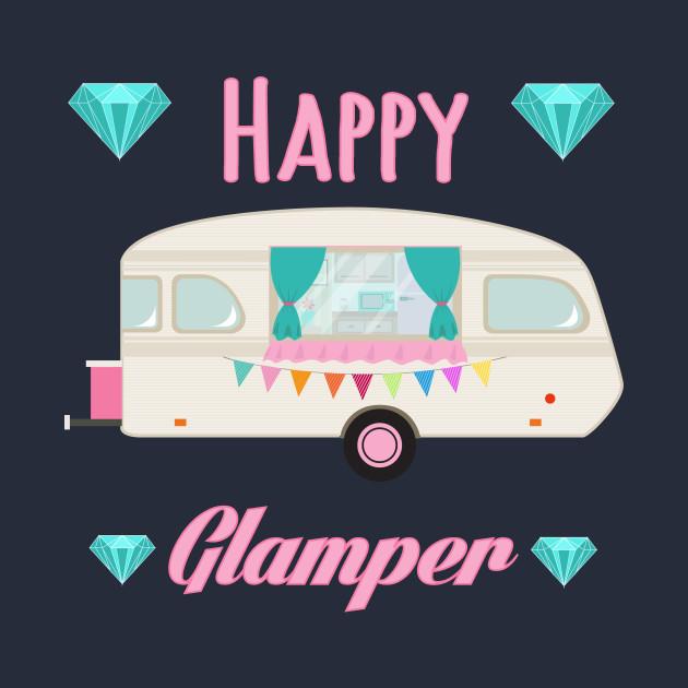 Happy Glamper - Pink Glam Camper Trailer RV Camping
