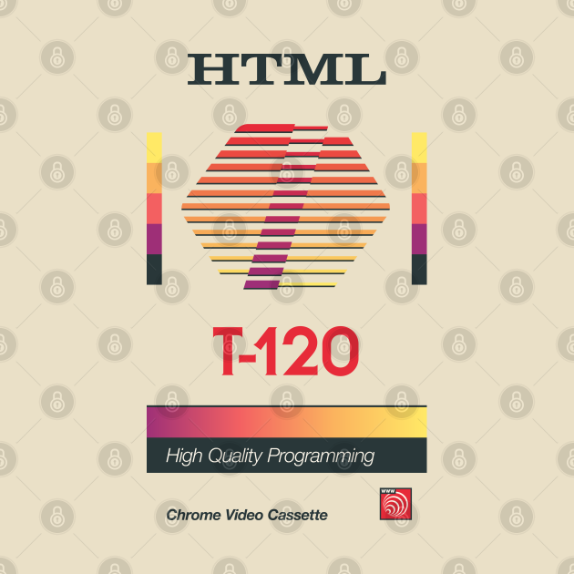 Retro Blank VHS HTML