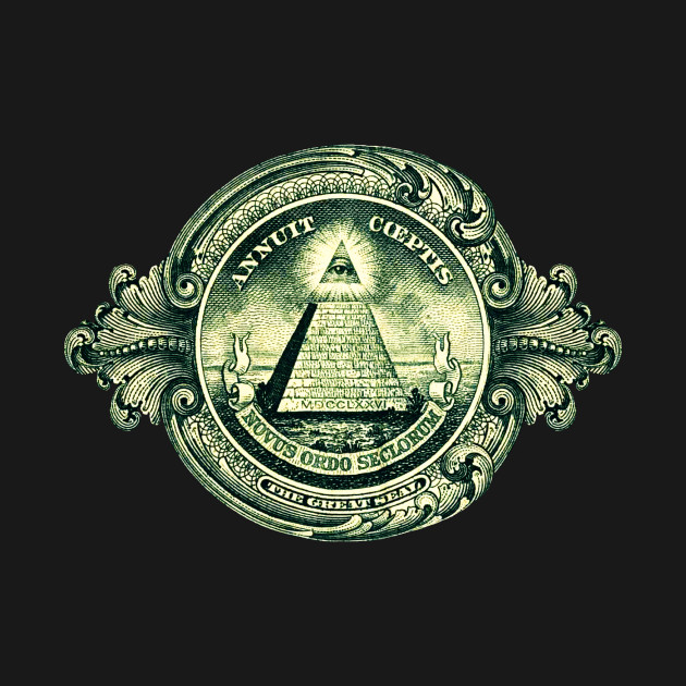 One Dollar Bill Note All Seeing Eye Illuminati Great Seal Dollar