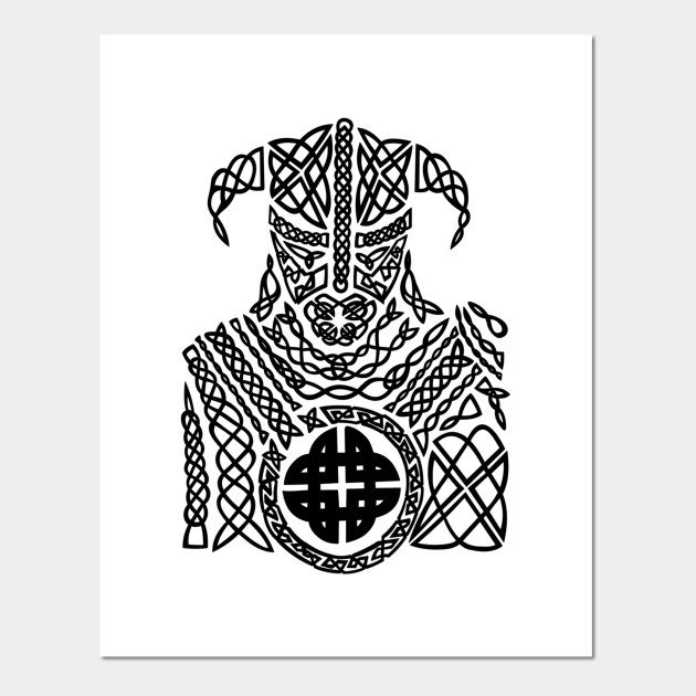 Ancient Celtic Knot Viking Warrior Celtic Warrior Posters And