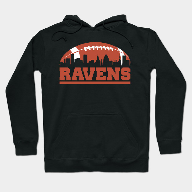 Ravens Football Skyline T-Shirt