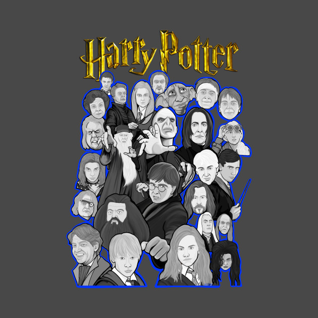 harry potter character collage art