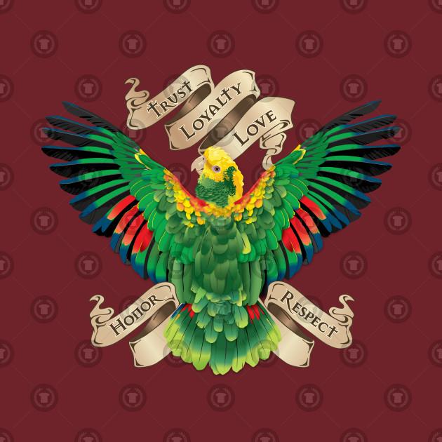 Parrot Tattoo Banner