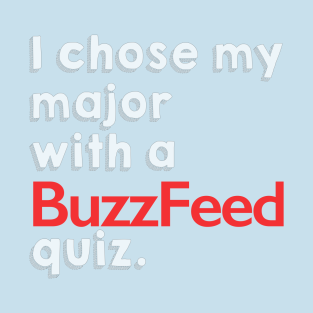 BuzzFeed College Quiz t-shirts