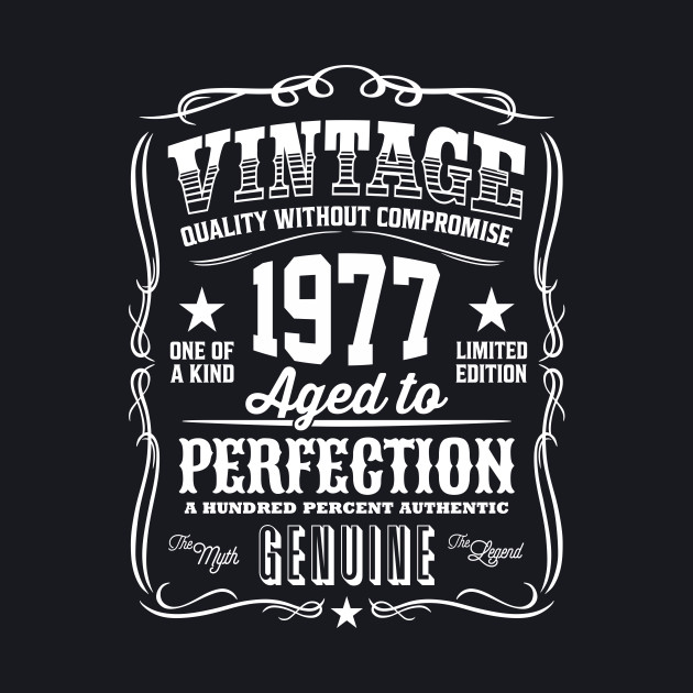 Vintage 1977 Aged to Perfection