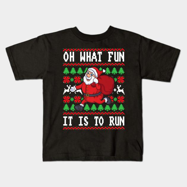 Christmas Running Shirt Oh What Fun Is It To Run Santa Gift ...