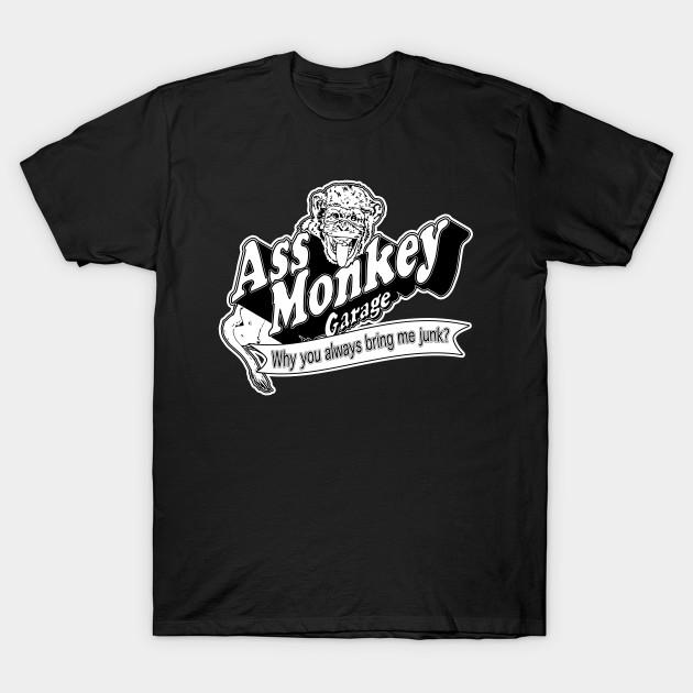128cf877bdd Ass Monkey Garage - Television - T-Shirt