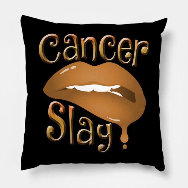 Zodiac Cancer Slay Golden Lips Pillow