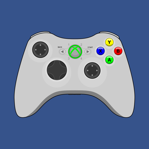 Video Game Inspired Console Xbox 360 Controller Gamepad