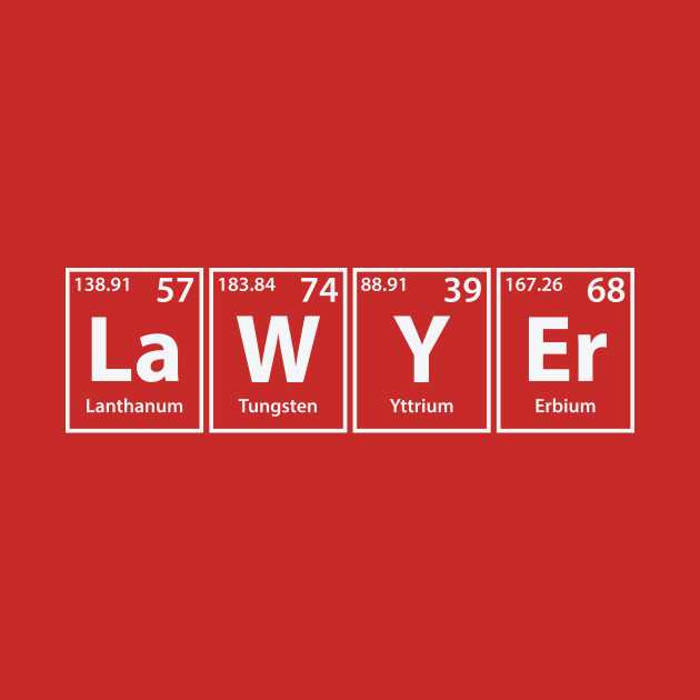 Lawyer (La-W-Y-Er) Periodic Elements Spelling