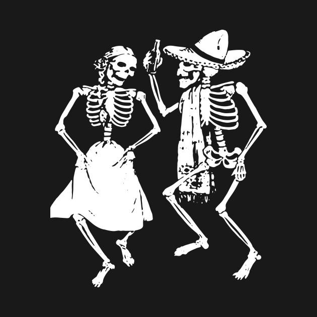 скелеты танцуют картинка отразилось как