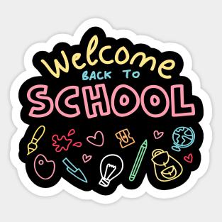 Welcome Back To School 2020 2019 Stickers | TeePublic UK