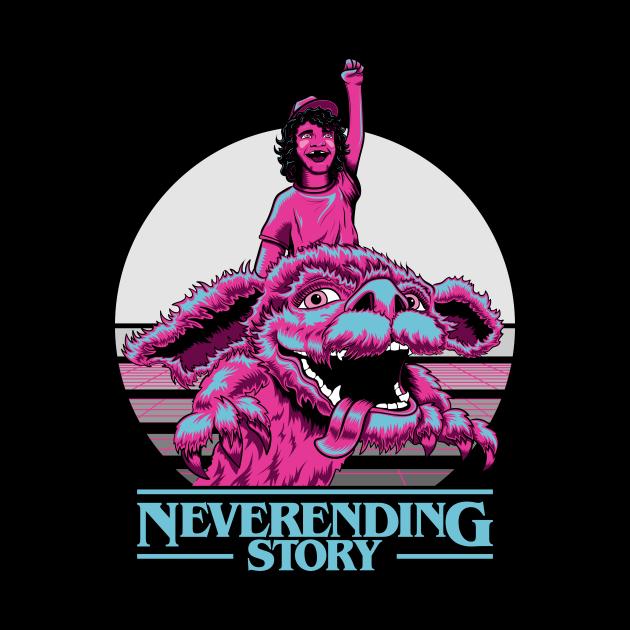 Neverending Things - A Neverending Story - Stranger Things Mash Up T-shirt