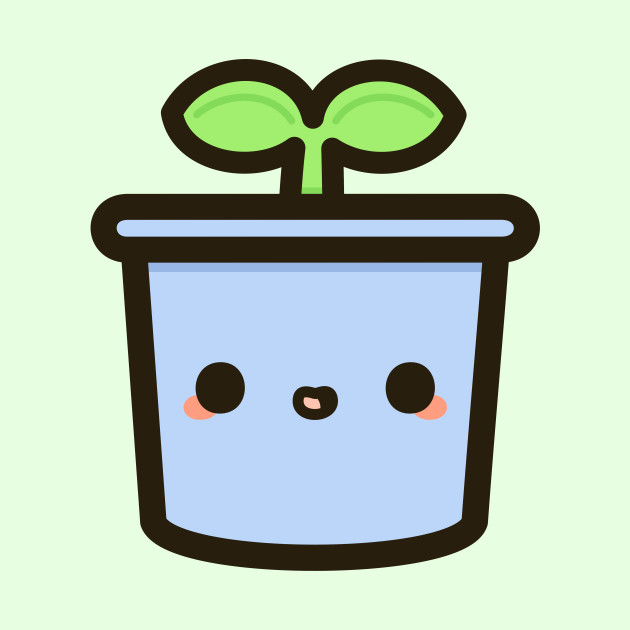 Cute sprout in pot