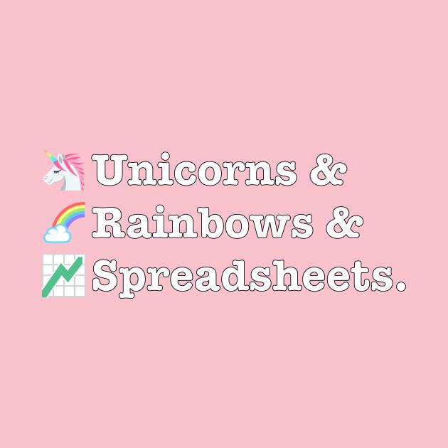 Funny Excel/Spreadsheet: Unicorns, Rainbows