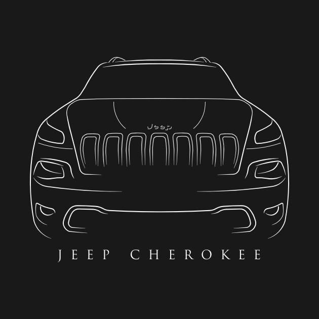 Jeep Cherokee KL Stencil Cherokee TShirt TeePublic - Jeep t shirt design