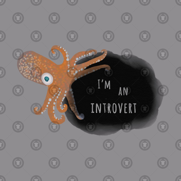 Introvert T-Shirt, Inking Squid
