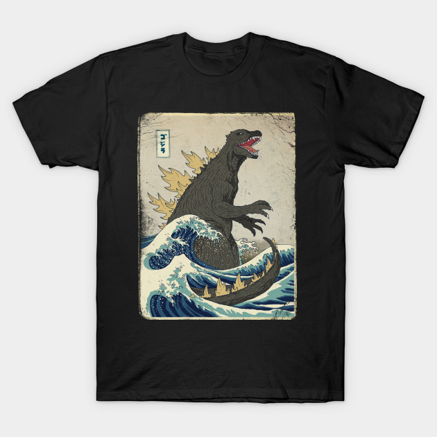 The Great Godzilla off Kanagawa T-Shirt-TOZ