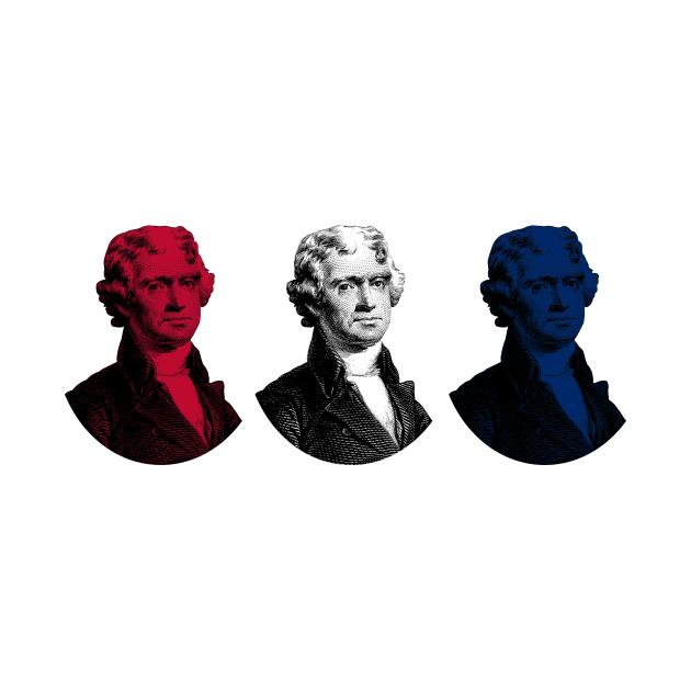President Thomas Jefferson - Red, White, and Blue