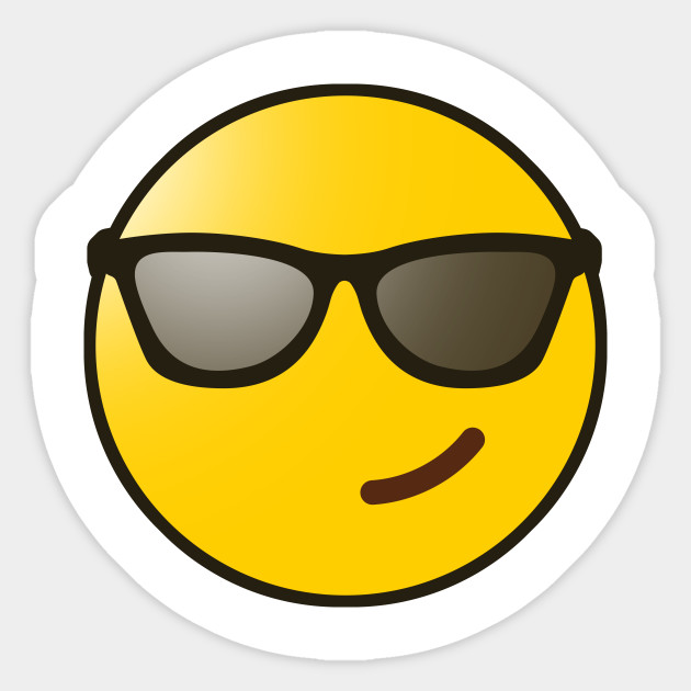 Sunglasses Emoji - Sticker | TeePublic