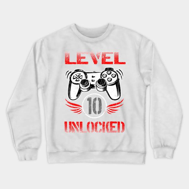 ae3c8183d733d Gamer Level 10 Unlocked Kids Shirt 10th Birthday Video Game