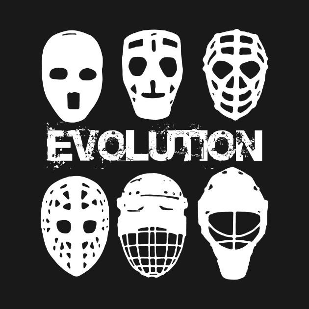 Goalie Mask Evolution Shirt Gift Ice Hockey Player Goalie T