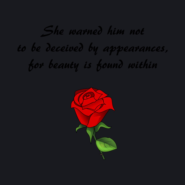 Beauty The Beast Quote Disney T Shirt Teepublic