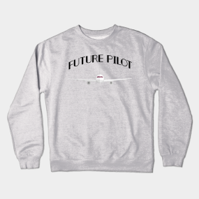 a75ee0946 Future Pilot Funny Airplanes Boys Girl Men Crewneck Sweatshirt