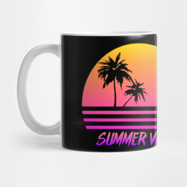 dee43d6e7c14 Summer Vibes - Retro Synth Sunset Style - Summer - Mug