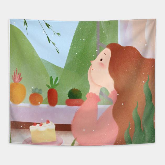 Lovely Birthday Girl In Home Tapestry